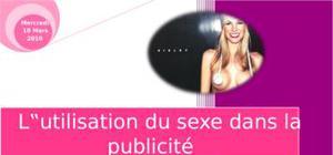 L'utilisation du sexe dans la publitié
