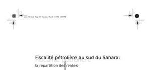 Fiscalité pétrolière