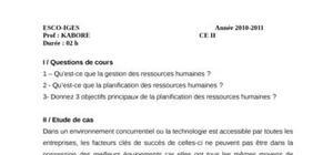 Evaluation gestion des ressources humaines