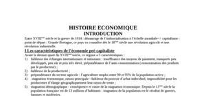 L'evolution de l'histoire economique