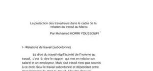 La protection des travailleurs dans le cadre de la relation du travail au maroc