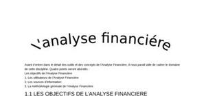L'analyse financiére