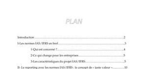 Rapport: : normes ias/ifrs