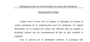 Le parkaging  - packaging-vecteur de communication au niveau de l'entreprise
