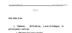 Produits dérivés: le contrats d'option