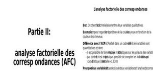 Afcm analyse factorielle des correspondances multiples