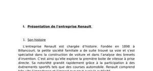 Histoire de renault