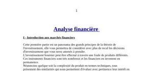 Analyse financière d'entreprises