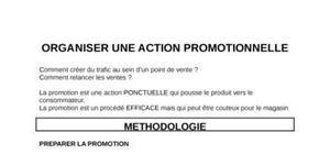 Action promotionnelle