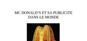 Mc donald et sa pub dans le monde