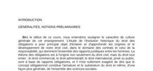 Introduction droit des obligations