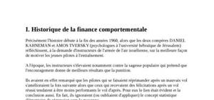Historique de la finance comortementale