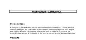 Prospection telephonique