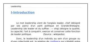 Leadership ses théories et caractéristiques