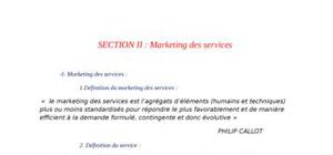 Marketing des services