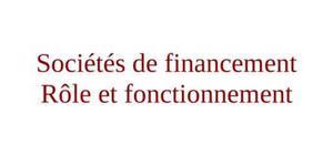 Sociétés de financement au maroc rôle et fonctionnement
