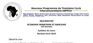 Nouveau programme de troisième cycle interuniversitaire