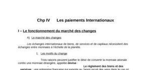 Chp iv      les paiements internationaux
