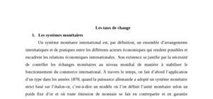 Les taux de change definition
