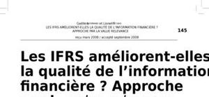 Les ifrs ameliorent elles la qualite de l'information financiere