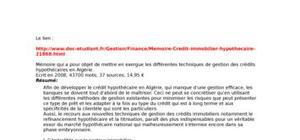 Crédit immobilier techniques diverses algérie