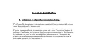 Définition et objectif de merchandising
