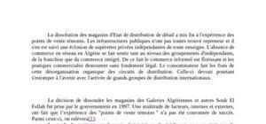Le commerce en réseau en algérie