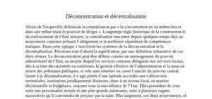 Déconcentration et décentralisation