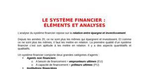 Le système financier