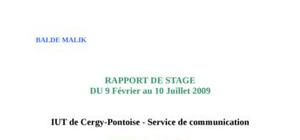 Rapport de stage licence communication