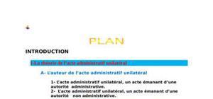 L'acte administratif unilateral