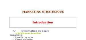 Les bases du marketing stratégique