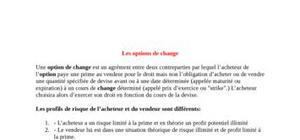 Les options de change
