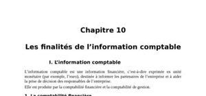 Les finalités de l'information comptable