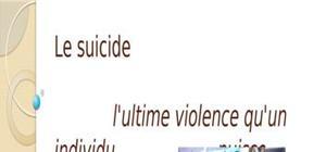 Exposé en philosophie (suicide)