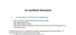 Le système bancaire européen