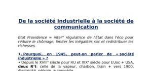 De la société industrielle à la société de consommation