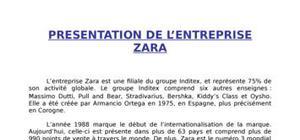 Exposé distribution zara