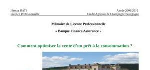 Comment optimiser la vente d'un prêt à la consommation?