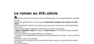 Le roman au xixeme siècle réalisme et naturalisme bac français 1ère