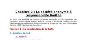 : la société anonyme à responsabilité limitée
