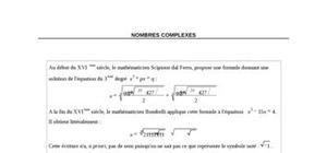 Cours de maths sur les nombres complexes