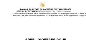 Appel d'offre pour externalisartion audit interne