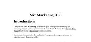 Mix marketing ' 4 p '