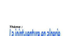 Joint-venture en algerie