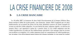 La crise financière de 2008