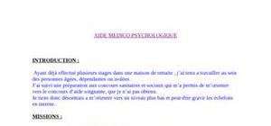 Aide médico psychologique (service civique)