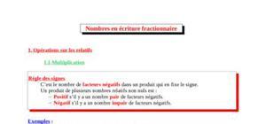 Nombres en écritures fractionnaires
