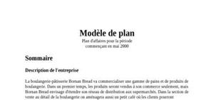 Exemple de business plan
