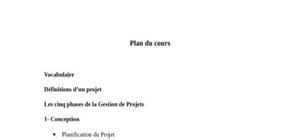 Le management des projets